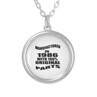 Manufactured  In 1986 With 100 % Original Parts Silver Plated Necklace