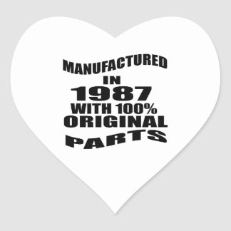 Manufactured  In 1987 With 100 % Original Parts Heart Sticker