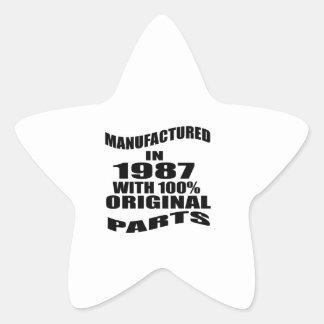 Manufactured  In 1987 With 100 % Original Parts Star Sticker