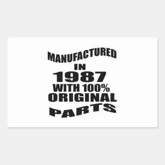 Manufactured  In 1987 With 100 % Original Parts Sticker