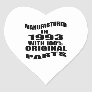 Manufactured  In 1993 With 100 % Original Parts Heart Sticker