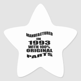 Manufactured  In 1993 With 100 % Original Parts Star Sticker