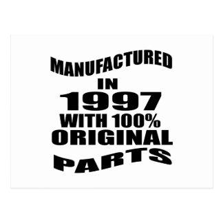 Manufactured  In 1997 With 100 % Original Parts Postcard