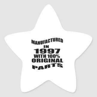 Manufactured  In 1997 With 100 % Original Parts Star Sticker
