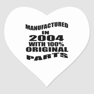 Manufactured  In 2004 With 100 % Original Parts Heart Sticker