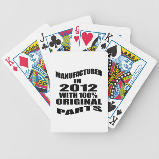 Manufactured  In 2012 With 100 % Original Parts Bicycle Playing Cards