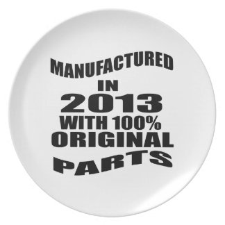 Manufactured  In 2013 With 100 % Original Parts Plate