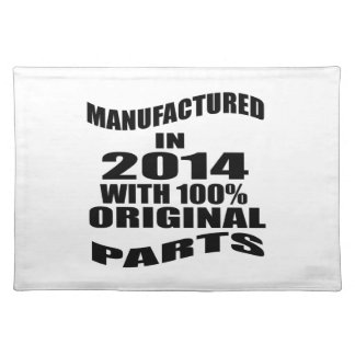 Manufactured  In 2014 With 100 % Original Parts Placemat
