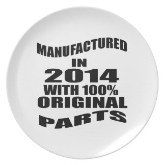Manufactured  In 2014 With 100 % Original Parts Plate