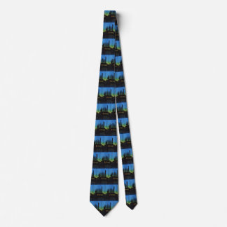 Manufacturing Factory at Sunset, Vintage Business Tie