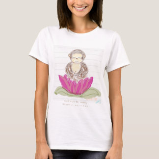 Manuka the monkey - Whimsical Mindful Wellness Om T-Shirt