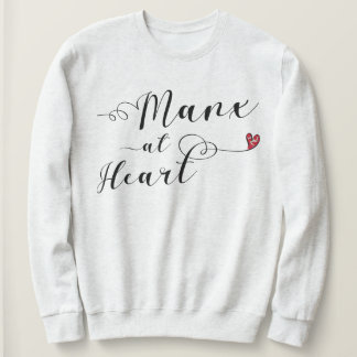 Manx At Heart Sweatshirt, Isle of Man Sweatshirt