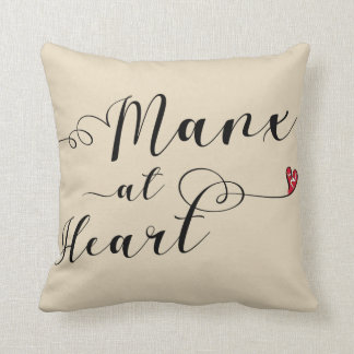 Manx At Heart Throw Cushion, Isle of Man Throw Pillow
