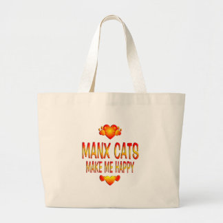 Manx Cat Large Tote Bag