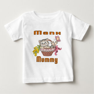 Manx Cat Mom Baby T-Shirt
