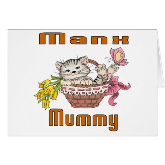 Manx Cat Mom Card