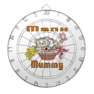 Manx Cat Mom Dartboard