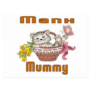 Manx Cat Mom Postcard
