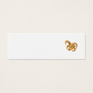 Manx Loaghtan Head Drawing Mini Business Card