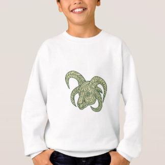 Manx Loaghtan Sheep Head Mono Line Sweatshirt