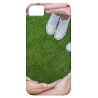 Many arms of children with hands making circle iPhone 5 cover