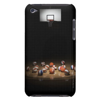 Many basketballs resting on the floor iPod touch covers