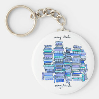 Many Books, Many Friends Keychain