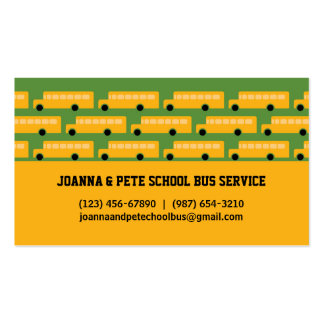 Many Buses School Bus Business Card