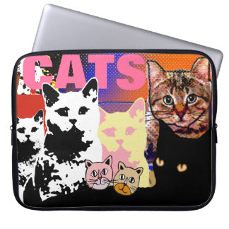 many cats images laptop computer sleeves