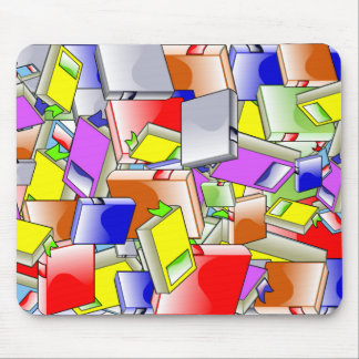 Many Colorful Books Mouse Pad