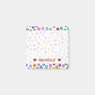 Many Colorful Circles & Custom Name Note