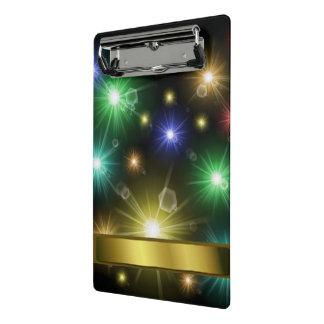 many colorful glowing festive lights mini clipboard