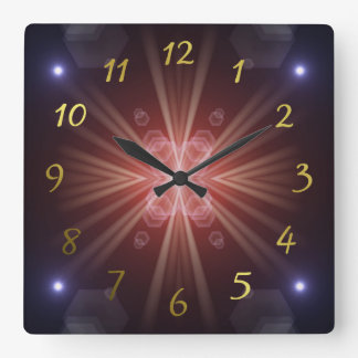 many colorful little sun, lights square wall clock
