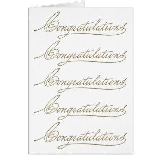 Many Congratulations Card