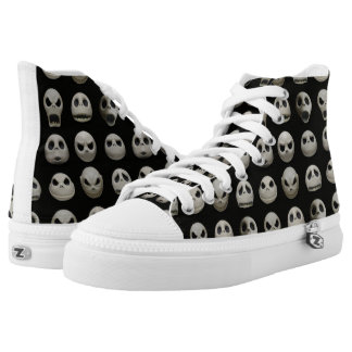 Many Faces of Jack Skellington - Pattern High Tops
