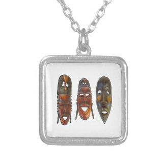 Many Faces Silver Plated Necklace
