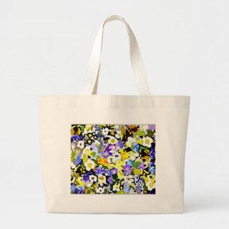 Many flowers jumbo tote bag