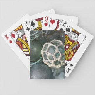 Many glass fishing floats, Alaska Playing Cards