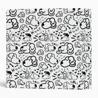 Many Golden Retrievers Pattern Vinyl Binder