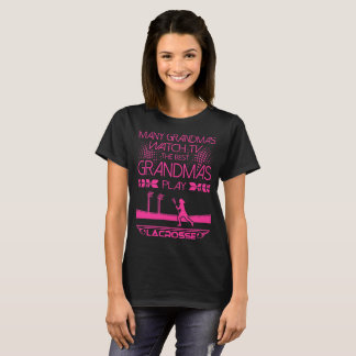 Many Grandmas Watch TV Best Play Lacrosse Tshirt