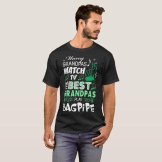 Many Grandpas Watch TV Best Play Bagpipe Tshirt