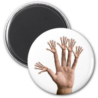 Many Hands 2 Inch Round Magnet