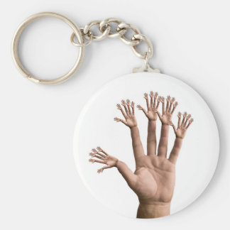 Many Hands Basic Round Button Keychain