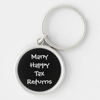 Many Happy Tax Returns Fun Tax Preparer Keychain