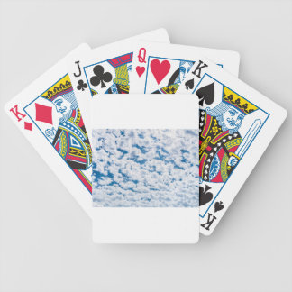 Many little white clouds and blue sky poker deck