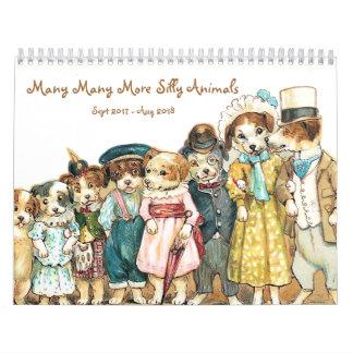 Many Many More Silly Animals 2017 Wall Calendar