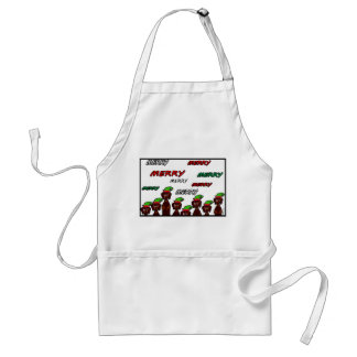 Many Merry Dachshunds Christmas Apron