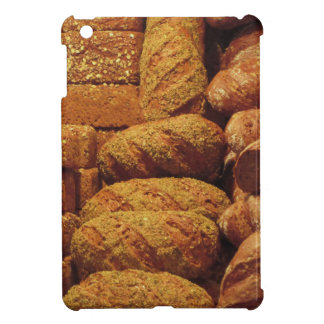 Many mixed breads and rolls background cover for the iPad mini