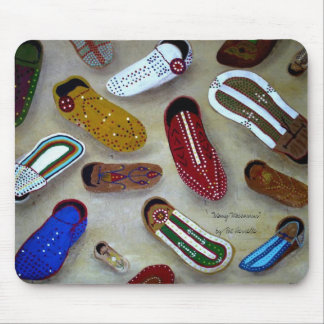 """""""Many Moccasins"""" mouse pad"""