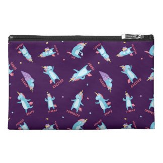 Many Moods of a Pink, Blue, and Purple Unicorn Travel Accessory Bag